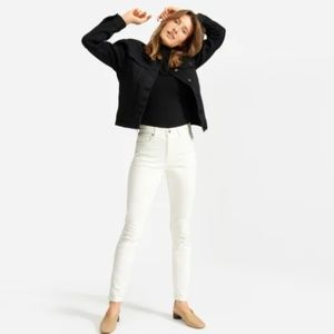 Everlane High Rise White Skinny Jeans 25 Ankle